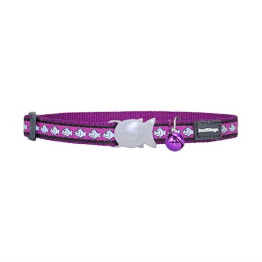 Red Dingo Reflective Safety Cat Collar - Purple