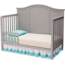 Toddler Bed Rails Walmart by Delta Children Madrid 4 In 1 Convertible Crib Gray Walmart Com