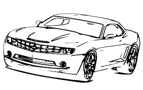 Sports Car Camaro Coloring Pages