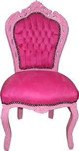 casa padrino barock esszimmer stuhl rosa rosa samtstoff