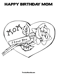 Happy Birthday Mom Jokes Coloring Pages