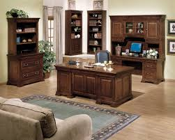 Delightful Modern Home Office Room Design With Brown Wooden Long Interior Charming Simple Creative Ideas Furniture Decor