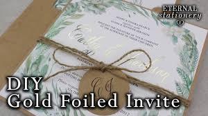 DIY Gold Foil Wedding Invitations
