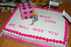 Away Cake Wording