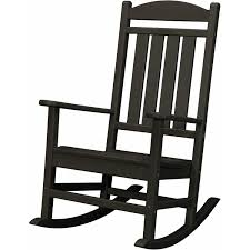 Livingroom : Ivy Terrace Classics Black Patio Rocker Ivr100bl The ...