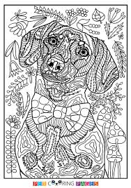 Free Printable Dachshund Coloring Page Available For Download Simple And Detailed Versions Adults