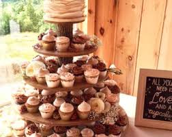 Rustic Cupcake Stand 5 Tier Tower Holder 120 Cupcakes 250 Donuts For Wedding