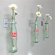 3 Coca Cola Bottle Hanging Flower Vases