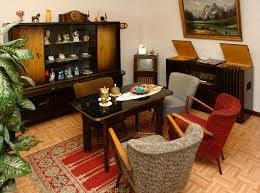 datei wohnzimmer 1950er jahre gehobene technische