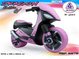 Injusa Dragon Kids 6v Pink Electric Scooter Moped