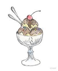 Ice Cream Sundae Illustration by kjnosal