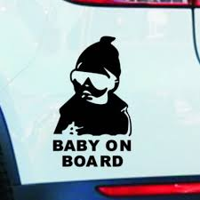 Super Cool Kids Baby On Board Carlos Hangover Funny Car Vinyl ...
