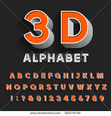 3d Letters Stock Royalty Free & Vectors