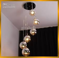 excellent discount fumat modern semi chrome mirror chandelier