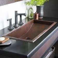 Drop In Bathroom Sink Sizes by Sinks Copper Drop In Kitchen Sink Farmhouse Duet Pro Copper Sink