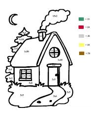 House Color By Number Coloring Page