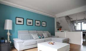 Fantastic Good Accent Wall Colors For Living Room Blue Teal Painted White Leather Sectional Sofa