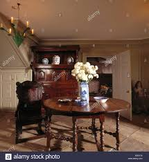 Antique Furniture In A Country Hall Dining Room