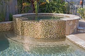 decor mosaic oceanside glass tile for swimming pool wall