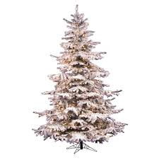Pre Lit Flocked Sierra Artificial Christmas Tree
