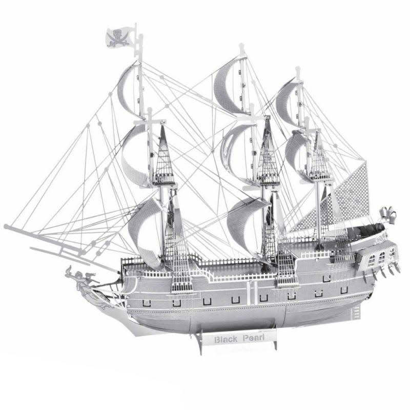 Iconx 3D Metal Model Kits - Black Pearl Ship