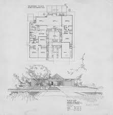 100 Eichler Home Plans Floor Plan In The Fairhills Tract Of Orange Plan OJ1605
