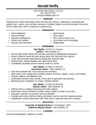 sle resume cover letter hair stylist best hair stylist resume exle livecareer