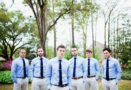 Boys In Blue Groomsmen Style Apparel Wedding Colors Ties And Khakis Southern