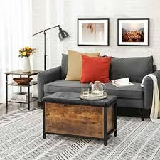 vasagle sitzbank mit stauraum gepolsterte truhe betttruhe flur schlafzimmer wohnzimmer metall einfacher aufbau industrie design schwarzes