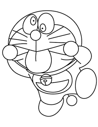 Silly Doraemon Making Faces Coloring Page