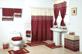 Leopard And Red Bathroom Decor by Splendid Bathroom Curtains Set Shower Curtain Matching Window