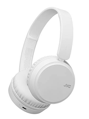 JVC Bluetooth On-Ear Headphones with Bass Boost, White
