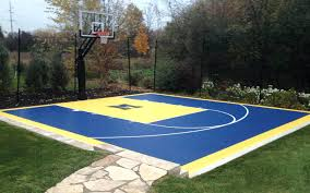 Backyard Basketball Court Ideas Cheap Backyard Basketball Court ... Outdoor Courts For Sport Backyard Basketball Court Gym Floors 6 Reasons To Install A Synlawn Design Enchanting Flooring Backyards Winsome Surfaces And Paint 50 Quecasita Download Cost Garden Splendid A 123 Installation Large Patio Turned System Photo Album Fascating Paver Yard Decor Ideas Building The At The American Center Youtube With Images On And Commercial Facilities