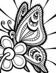 Free Printable Coloring Sheets Butterflies Pages Pictures Butterfly