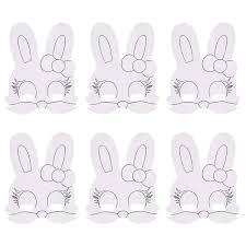 LEEQ Máscara De Pascua En Blanco Para Pintar Máscaras De