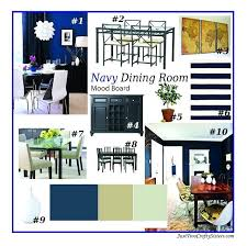 Navy Dining Room Blue Chair Covers