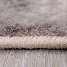 teppich abstrakt vintage look wohnzimmer kurzflor teppich läufer blau