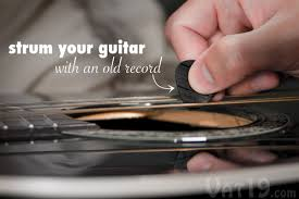 Play Your Guitar Using An Old Vinyl Record