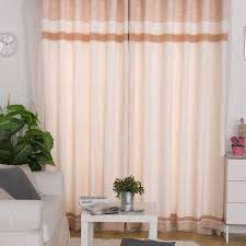 light pink linen modern style casual living room curtain