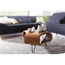 wohnling couchtisch wl5 603 55x38x55 cm sheesham massiv holz ablage metallgestell retro wohnzimmertisch rechteckig massivholz braun sofatisch