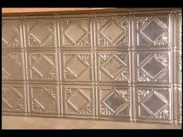 tin metal tile backsplash youtube