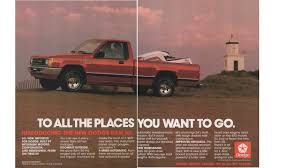 100 1987 Dodge Truck Magazine Print Ad Red Ram 50 Pickup Imported For