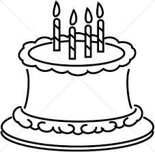 Birthday black and white birthday clipart black and white 2