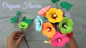 Origami Flower How To Make Paper Bouquet Tutorial
