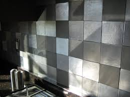 awesome kitchen designs metal tile wall metal wall tiles for