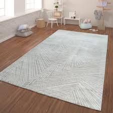 moderner kurzflor teppich geometrisch grau