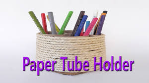 Hand Made Beautiful Paper Tube Holder