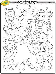 Monster Dance Party Coloring Page