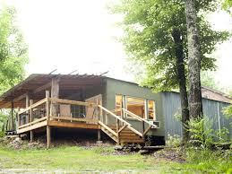 100 Conex Cabin Private 50 Ft Waterfall Ecofriendly Cozy Cabin Built From Shipping Containers Sequatchie
