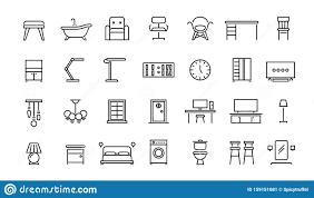 icons für die innenmöbel büroinnere und wohnzimmer sessel